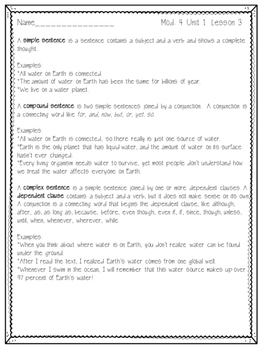 Engage NY ELA Grade 3, Module 4, Unit 1, Freshwater around the World