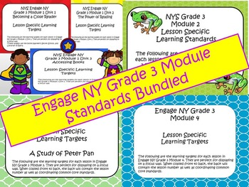 Engage NY ELA Grade 3 Standards Bundle