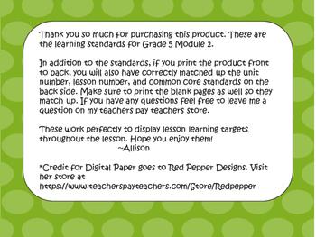 Engage NY ELA Grade 5  Module 2A Standards