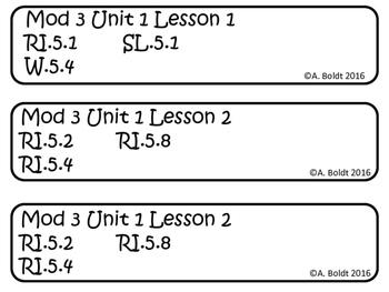 Engage NY ELA Grade 5  Module 3A Standards