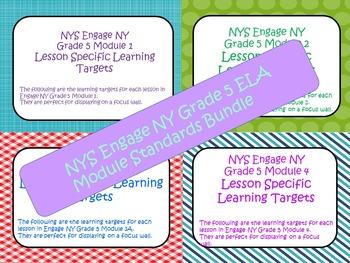 Engage NY ELA Grade 5 Standards Bundle