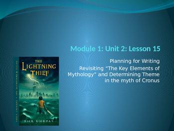 Engage NY ELA Grade 6 Module 1 Unit 2 Lesson 15--The Lightning Thief