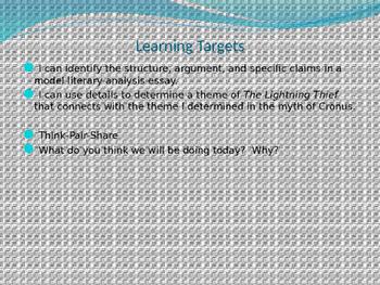 Engage NY ELA Grade 6 Module 1 Unit 2 Lesson 16--The Lightning Thief