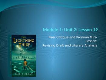 Engage NY ELA Grade 6 Module 1 Unit 2 Lesson 19--The Lightning Thief