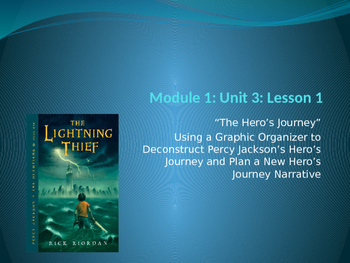 Engage NY ELA Grade 6 Module 1 Unit 3 Lesson 1--The Lightning Thief
