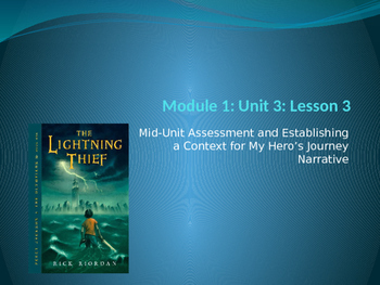 Engage NY ELA Grade 6 Module 1 Unit 3 Lesson 3--The Lightning Thief