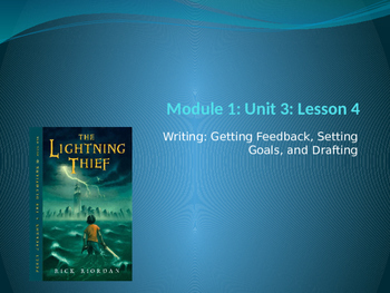 Engage NY ELA Grade 6 Module 1 Unit 3 Lesson 4--The Lightning Thief