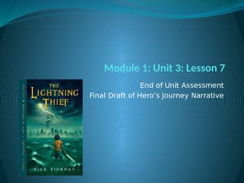 Engage NY ELA Grade 6 Module 1 Unit 3 Lesson 7--The Lightning Thief