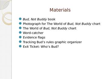 Engage NY ELA Grade 6 Module 2A Unit 1 Lesson 1--Bud, Not Buddy