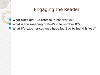 Engage NY ELA Grade 6 Module 2A Unit 1 Lesson 10--Bud, Not Buddy