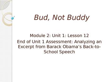 Engage NY ELA Grade 6 Module 2A Unit 1 Lesson 12--Bud, Not Buddy