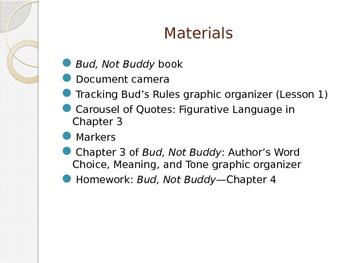 Engage NY ELA Grade 6 Module 2A Unit 1 Lesson 3--Bud, Not Buddy