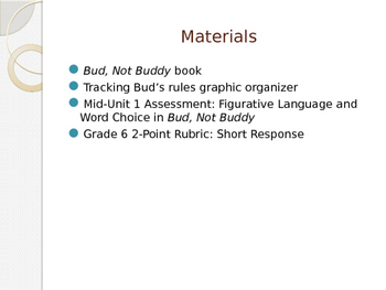 Engage NY ELA Grade 6 Module 2A Unit 1 Lesson 5--Bud, Not Buddy