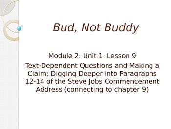 Engage NY ELA Grade 6 Module 2A Unit 1 Lesson 9--Bud, Not Buddy