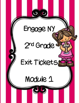 FREEBIE -Engage NY EXIT Tickets-  Module 1 - Math Journals- Interactive Notebook