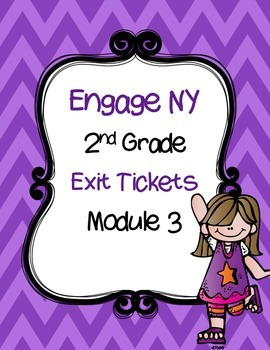 FREEBIE- Engage NY EXIT Tickets-  Module 3  Math Journals- Interactive Notebook