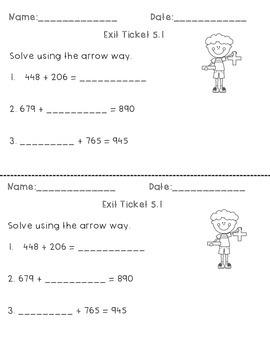 FREEBIE - Engage NY Eureka Math EXIT Tickets-  Module 5