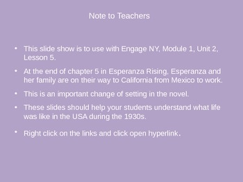 Engage NY Esperanza Rising Lesson 5