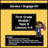 Engage NY/Eureka 1st Grade Module 1 Topic B Lessons 4-8 — Differentiated Pack