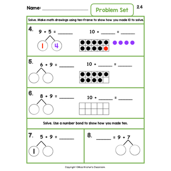 Engage NY/Eureka 1st Grade Module 2 Topic A Lessons 1-6 — Differentiated Pack