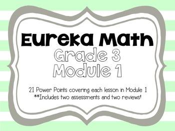 Engage NY/Eureka 3rd Grade Module 1 Lessons 1-21
