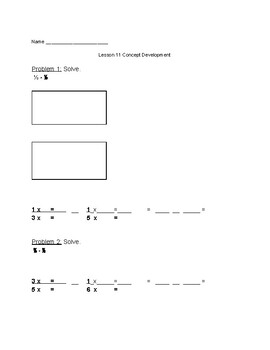 Engage NY Eureka 5th Grade Math Lesson 11 Module 3 Classwork