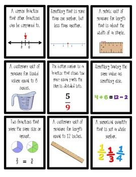 Engage NY/Eureka 5th Grade Math Module 3 Vocabulary Card Game