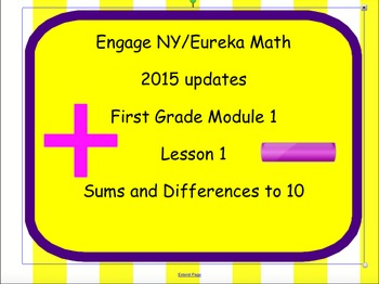 Engage NY Eureka First Grade Module 1 Lesson 1