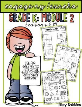 Engage NY/ Eureka Kindergarten: Module 2- Lessons 6-10