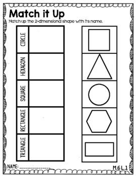 Engage NY/ Eureka Kindergarten: Module 6- Lessons 1-5