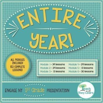 Engage NY (Eureka Math) Presentations 1st Grade Math ENTIRE YEAR! ALL LESSONS!