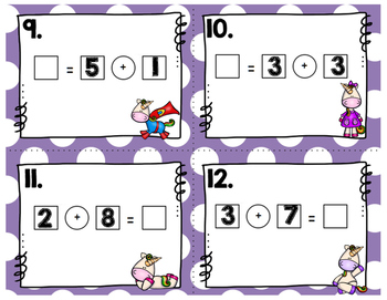 Engage NY Eureka Math (1st grade) Module 1 Lesson 15 Task Cards