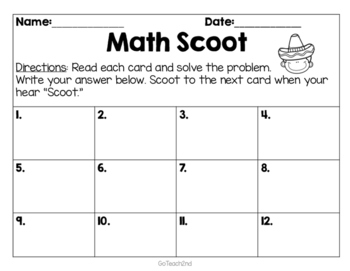 Engage NY Eureka Math (1st grade) Module 1 Lesson 20 Task Cards