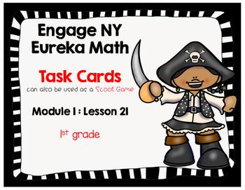 Engage NY Eureka Math (1st grade) Module 1 Lesson 21 Task Cards