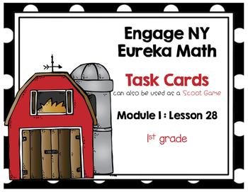 Engage NY Eureka Math (1st grade) Module 1 Lesson 28 Task Cards