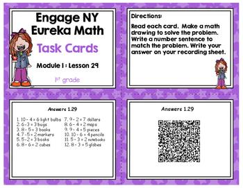 Engage NY Eureka Math (1st grade) Module 1 Lesson 29 Task Cards