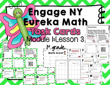 Engage NY Eureka Math (1st grade) Module 1 Lesson 3 Task Cards -Scoot Game