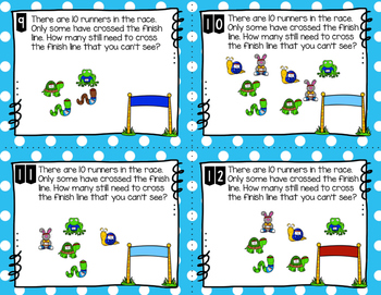 Engage NY Eureka Math (1st grade) Module 1 Lesson 8 Task Cards -Scoot Game