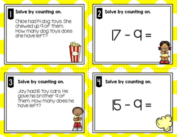 Engage NY Eureka Math (1st grade) Module 2 Lesson 16 Task Cards & Scoot Game
