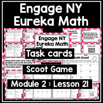 Engage NY Eureka Math (1st grade) Module 2 Lesson 21 Task Cards & Scoot Game