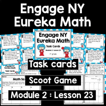 Engage NY Eureka Math (1st grade) Module 2 Lesson 23 Task Cards & Scoot Game