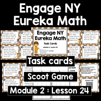 Engage NY Eureka Math (1st grade) Module 2 Lesson 24 Task Cards & Scoot Game