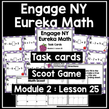 Engage NY Eureka Math (1st grade) Module 2 Lesson 25 Task Cards & Scoot Game