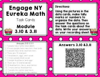 Engage NY Eureka Math (1st grade) Module 3 Lesson 10&11 Task Cards & Scoot Game