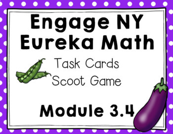 Engage NY Eureka Math (1st grade) Module 3 Lesson 4 Task Cards & Scoot Game