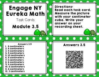 Engage NY Eureka Math (1st grade) Module 3 Lesson 5 Task Cards & Scoot Game