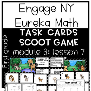 Engage NY Eureka Math (1st grade) Module 3 Lesson 7 Task Cards & Scoot Game