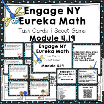 Engage NY Eureka Math (1st grade)Module 4 Lesson 19 Task Cards/Scoot Game