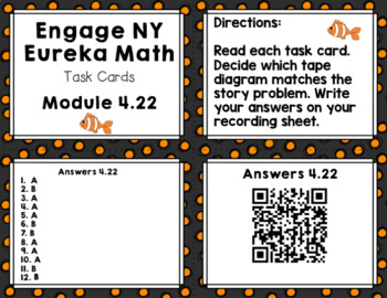 Engage NY Eureka Math (1st grade)Module 4 Lesson 22 Task Cards/Scoot Game