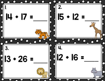 Engage NY Eureka Math (1st grade) Module 4 Lesson 24 & 25 Task Cards/Scoot Game